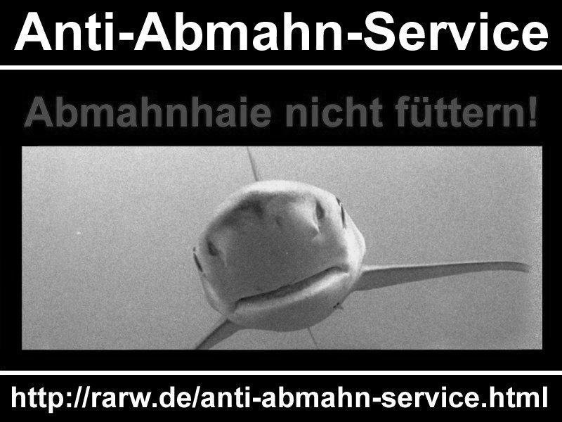 """Bild """"Anti-Abmahn-Service gegen böse Abmahnhaie"""""""