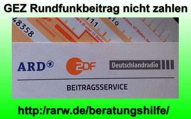 """Foto &quotBeratungshilfe wegen GEZ Rundfunkbeitrag"""""""