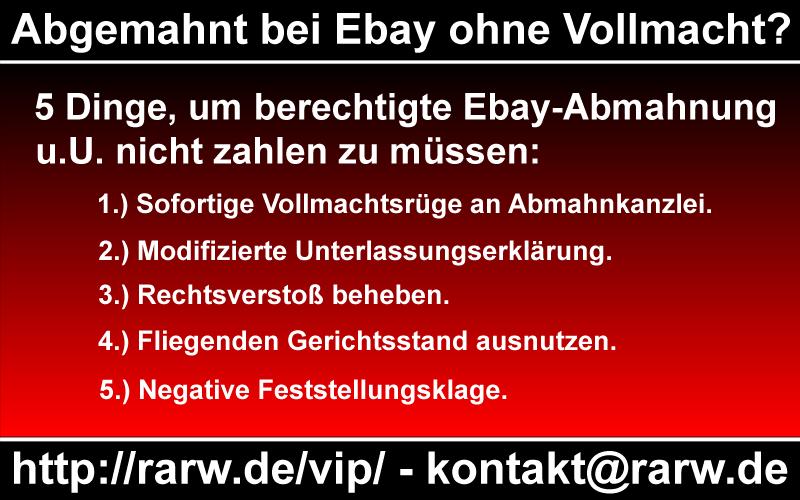 """Infografik """"Abgemahnt bei Ebay ohne Vollmacht?"""""""
