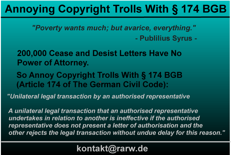 Infographic Defeating Copyright Trolls