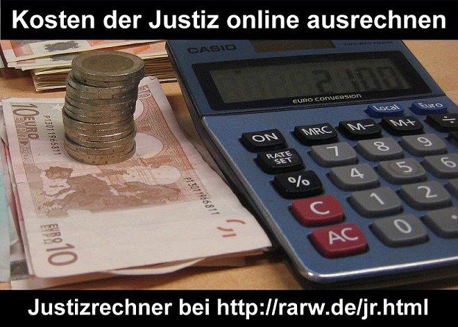 """Bild """"Kosten der Justiz online ausrechnen"""""""